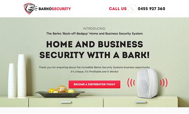 Barko Landing Page