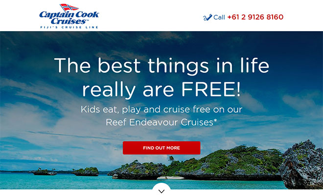 Captain Cook Fiji Landing Page