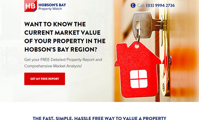 Hobson's Bay Landing Page